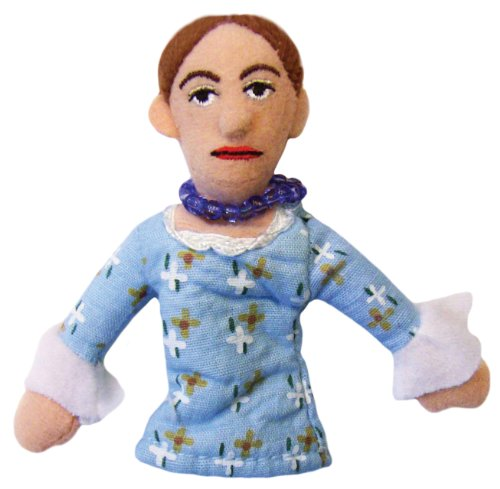 The Unemployed Philosophers Guild Virginia Woolf Finger Puppet and Refrigerator Magnet - for Kids and Adults