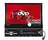 Caliber RDD571BT - Radio de coche, pantalla plegable de radio con DVD 4x75w USB, SD y Bluetooth