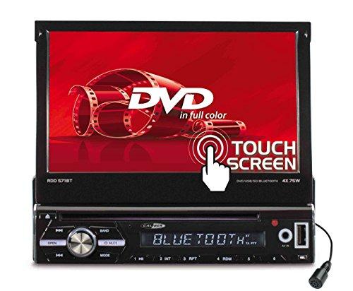 Caliber RDD571BT Moniceiver, 1Din Autoradio ; 7Zoll TFT Schirm / DVD mit Anschluss für Rückfahrkamera, inkl. Fernbedienung, Bluetooth-Freisprecheichanlage, schwarz