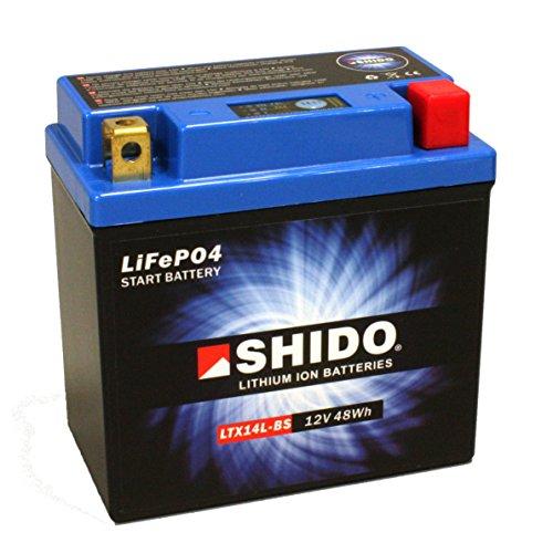 Motorrad Batterie Shido Lithium LTX14L-BS / YTX14L-BS, 12V/12AH (Maße: 150x87x145)