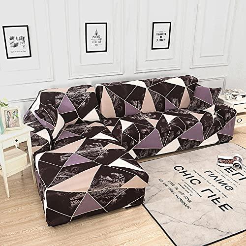 PPOS Funda de sofá en Forma de L Fundas elásticas Fundas de sofá elásticas para Sala de Estar Funda de sofá seccional Chaise Longue D15 Loveseat 145-185cm-1pc