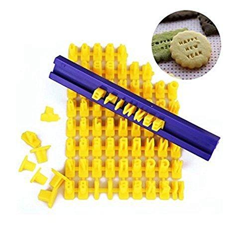 wuudi DIY Fondant Werkzeug Alphabet Buchstaben Zahlen Kekse Kuchen Gebäck Stempel Formstanzer sterben Cutter Cookie Form