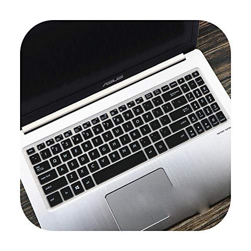 For ASUS VivoBook 15 N580gd N580v NX580 R560UD R560U R560 15 15.6 inch Silicone Laptop Keyboard Cover Skin Protector Film-Black-