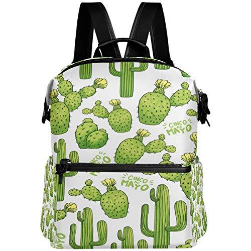 Oarencol Rucksack, Kaktus, Grün, tropische Dornen, Pflanzen, Schule, Bücher, Reisen, Wandern, Camping, Laptop, Tagesrucksack