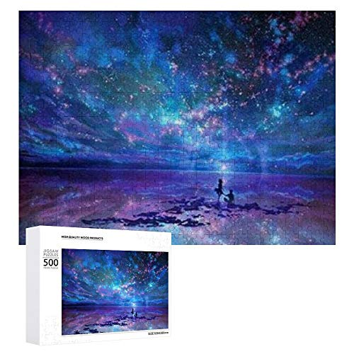 Traasd11an Jigsaw Puzzle 500 Piece- Fantasy Star Sea,Every Piece is Unique, Softclick Technology Means Pieces Fit Together Perfectly