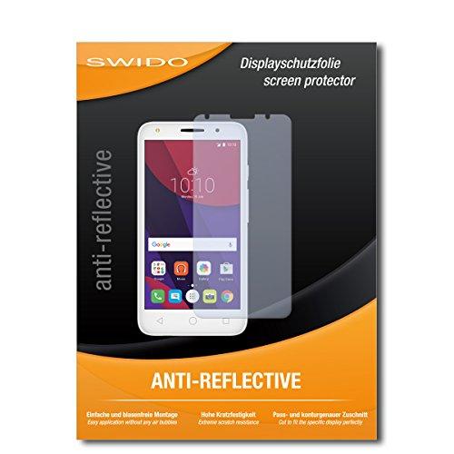 SWIDO Schutzfolie für Alcatel Pixi 4 (5) [2 Stück] Anti-Reflex MATT Entspiegelnd, Hoher Festigkeitgrad, Schutz vor Kratzer/Bildschirmschutz, Bildschirmschutzfolie, Panzerglas-Folie