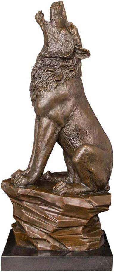 favorite YFQHDD Wolf Statue Sculpture Bronze Figurines B Marble with Luxury