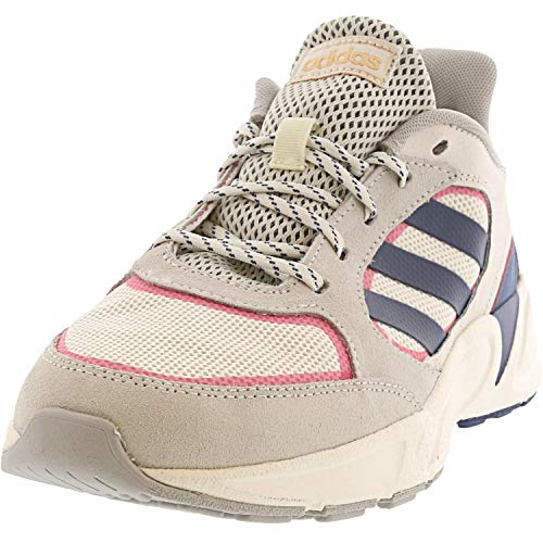 adidas Women's 90s Valasion Sneaker, Cloud White/tech Ink/Real Pink, 8.5 M US