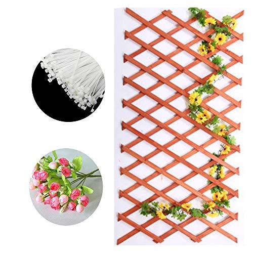 SOULOS Wohnzimmer Zaun Rankhilfe Expansion Rankgitter Einstellbare Schrumpfen Gartenmauer Terrasse Gemüse Blume Reben Rahmen Frame (mit 500 Leine + Zwei Plastikbouquets),E,22 * 44cm