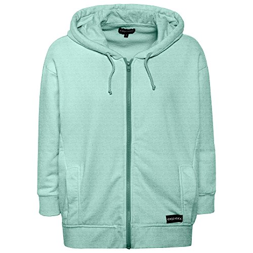 Chiemsee Damen Kapuzensweatshirtjacke, einfarbig Bekleidung/Sweatshirts/Sweatjacke/, 715 Bleached Aqua, S