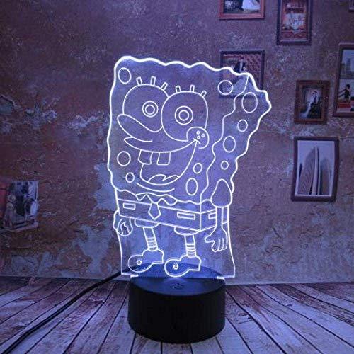 Lampe de chevet 3D Night Light Stéréo Slide Creative Gift Touch Gradient Kids Bedroom Table Birthday Christmas Gift Gift