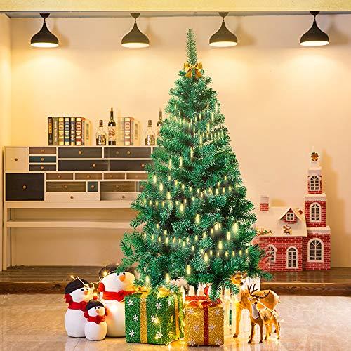 Froadp 210cm Árbol de Navidad Artificial con Soporte Estable y 750 Ramas de Simulación Tradicional para Navidad Decoración de Fiesta de Manualidades(PVC Verde)