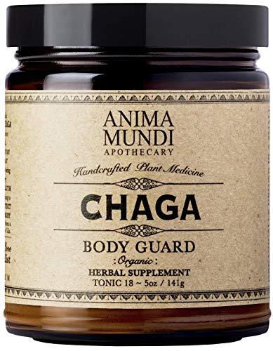 Anima Mundi Chaga Mushroom Powder - Immune Support Mushrooms, Pure Organic Sustainably Sourced Herbal Supplement, USA Grown, Add to Food, Coffee & Tea (5oz / 141g)