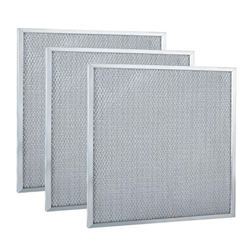 Podoy Range Hood filter Replacement BPS1FA30 Compatible with Broan Nutone Mesh Aluminum Hood Grease Range Hood Accessories 11-3/4 x 14-1/4 x 3/8 (Pack of 3)