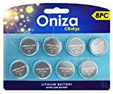 Oniza CR1632 Lithium Battery 3V Coin & Button Cell Batteries for Watches, Remote and Car Key Fob Replacement (8 Pack)
