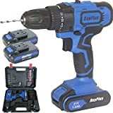 Cordless Drill Driver Kit, 21V Cordless Drill Set with Hammer Action &...