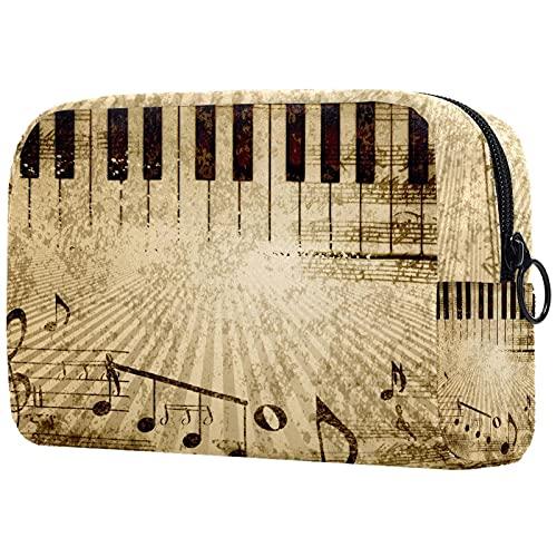Borsa da toilette per il trucco Portamonete per cosmetici da viaggio Organizer per cosmetici,spartito per pianoforte