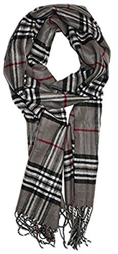 Hemore La Bufanda a Cuadros de Invierno para Mujer con Borla Suave y Moda Larga Acogedora con La Bufanda de Primavera a un Regalo Chal de Tartán