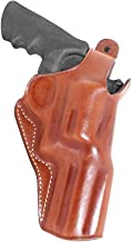 Premium Leather Three Slots Belt Holster with Thumb Break Fits Smith Wesson Model 500 Magnum X-Frame 4