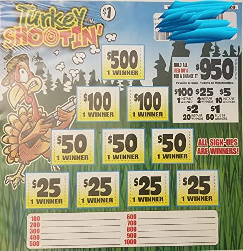 Turkey Shootin' Bingo Pull Tabs Game