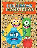 Libro de Colorear Monstruos para Niños: de 4 a 8 años. Cuaderno para pintar y dibujar con colores...