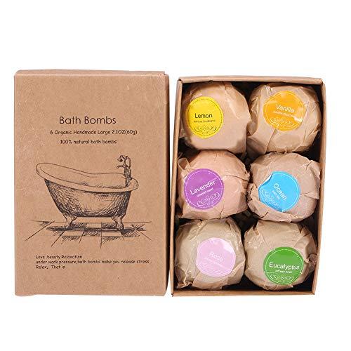 Juego de regalo bomba de baño, 6 bolas de baño con aceites...