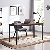 VINEXT 55' Industrial Computer Desk, Writing Desk, Home Office Desk, PC Laptop Table, Simple Study Table, Table for Living or Dining Room, Easy to Assemble, 0.7in (1.8cm)thickened desktop, Rustic Brow