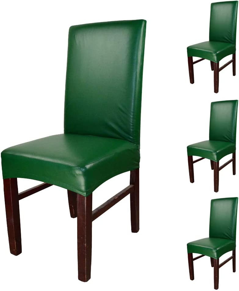 funpie Very popular Dining Chair Covers Solid Leather and PU Waterproof Color Challenge the lowest price of Japan