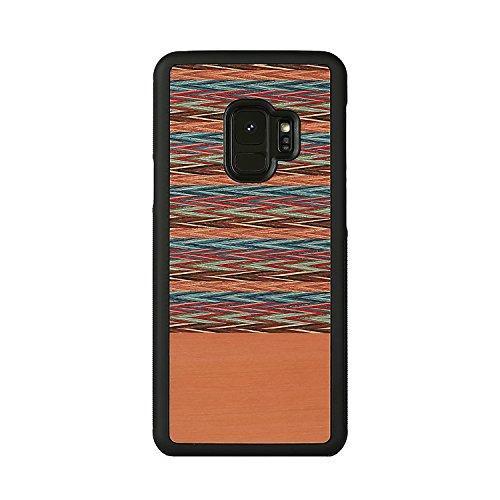 Man&Wood Galaxy S9 ケース 天然木ケース Browny Check(マンアンドウッド ブラウニーチェック)ギャラクシー エスナイン カバー SC-02K SCV38【日本正規代理店品】 I12503S9