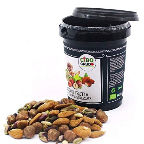 CiboCrudo Mix di Frutta Secca Sgusciata Biologica Cruda, Raw Organic – 200gr – Prodotto in Italia, Pinoli Mandorle Nocciole e Pistacchi, Frutta Secca Mista, Etichette in Italiano