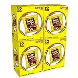 KeeblerFudge Stripes Cookies Minis, Original, 12 Count, Pack of 4