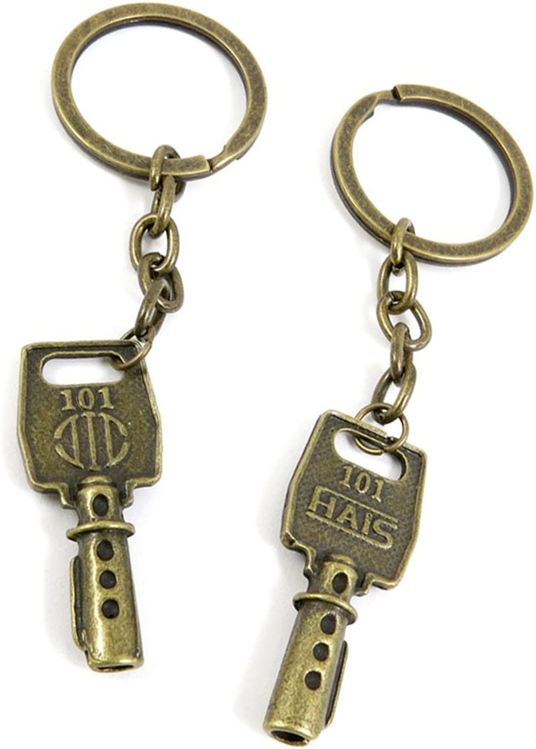 100 PCS Keyrings Keychains Key Ring Chains Tags Jewelry Findings Clasps Buckles Supplies D3LM4 Fake Key