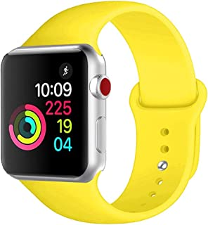 Winso Soft Silicone Strap Compatible with Apple Watch Band 38mm 40mm 42mm 44mm S/M M/L for Series 5/4/3/2/1