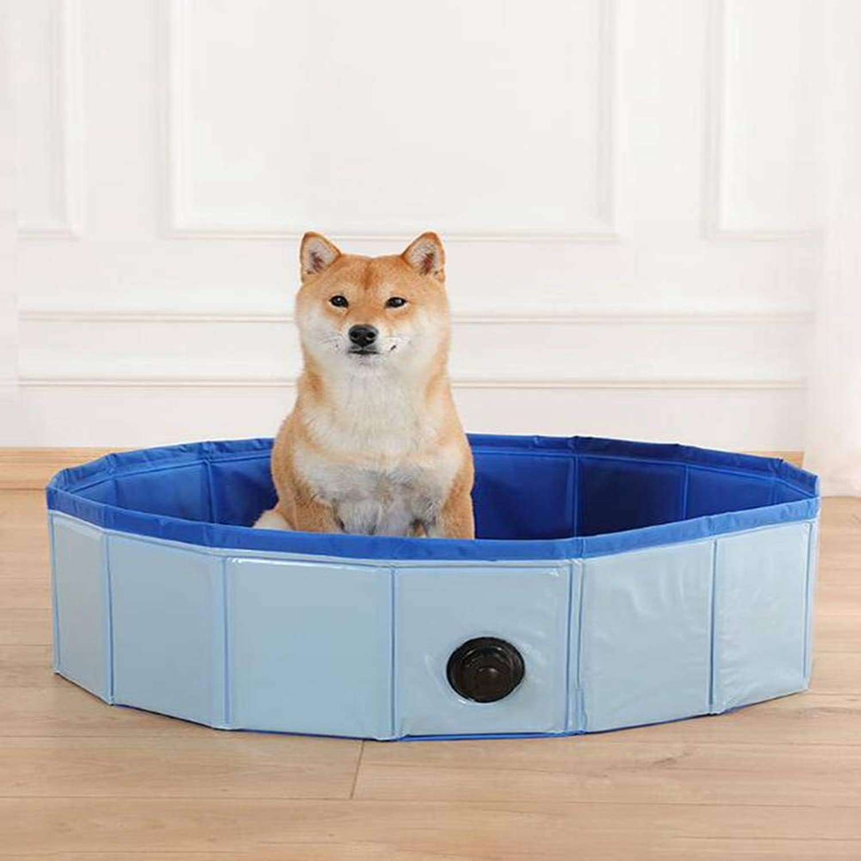 AIYI Collapsible pet bathtubdog cat bathtub bathtub wash basin pet pool pool (bluee, red, diameter 120  130cm)