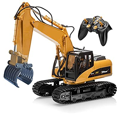 Top Race tr-215 Remote Control Fork Grapple Excavator, RC Digger