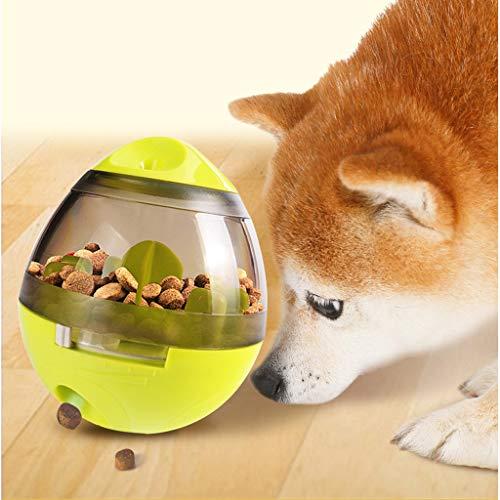 Pet Food Ball, Fun et Interactive Friandises, Balle distributrice pour Chiens et Chats, Augmente la Stimulation du QI et Mental, Meilleure Alternative à l'alimentation en Bol (Vert)