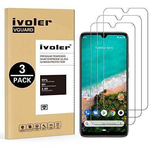 VGUARD [3 Unidades] Protector de Pantalla para Xiaomi Mi A3, Cristal Vidrio Templado Premium para Xiaomi Mi A3