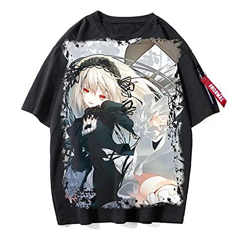 2021 Neue Herren- und Damen-T-Shirts sind leichte und komfortable Rozen-Maiden-Cosply 3D-gedrucktes Unisex-Kurzärmliges T-Shirt Unterhemd Baumwolle (Color : 5c, Size : M)