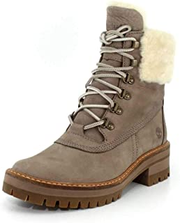Womens Courmayeur Valley 6 Inch Boot with Shearling, Taupe/Taupe Gray, Size 9.5