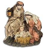 Aubaho Marie José Jesús Sagrada Figura Navidad Belén Pintado a Mano Estilo Antiguo 22cm...