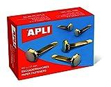 APLI 12283 - Encuadernadores metálicos sin arandela 12 mm 100 u.
