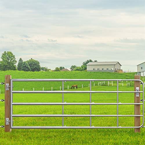 VOSS.farming Verstellbares, Verzinktes Weidezauntor inkl. Montageset, Breite 1,25m bis 4,0m Höhe 90cm Weidetor, Gatter, Weidezaun