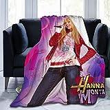 Romantic Deer Hannah Montana Blanket Men and Women Ultra-Soft Fleece Blankets Flannel Throw Blanket All Season Light Weight Warm Blanket for Couch Sofa Bed,60'X50'