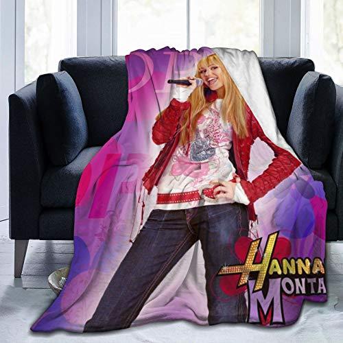 Romantic Deer Hannah Montana Decke für Herren und Damen, ultraweiche Fleece-Decken, Flanell, Überwurf, Decke, für alle Jahreszeiten, leicht, warme Decke für Couch, Sofa, Bett, 152,4 x 127,7 cm
