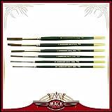 (6) Andrew Mack Brush Hannukaine Quill Brushes Series 79 Size XXS - XL Mixture Squirrel Ta...