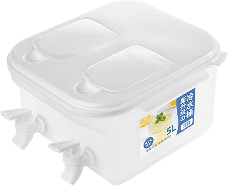 5L Fridge Beverage Dispenser with Spigots gift Compartment Regular dealer Dual and