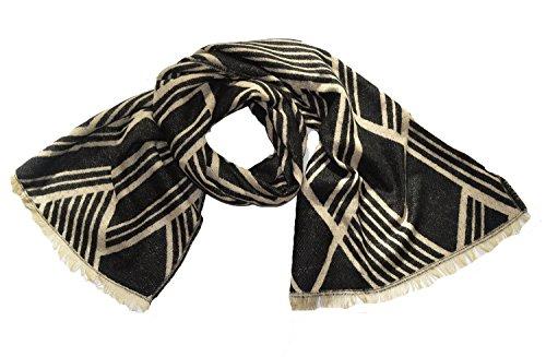 Wigwam accessories Top Qualité Luxe Grande Taille épais Doux Geo en Grille Couverture Plaid Châle