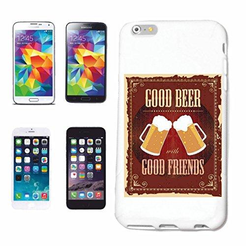 Bandenmarkt telefoonhoes compatibel met Samsung Galaxy S5 Mini Good Beer Good Friend Bier WEIZENBIER PILZ Bierpul BIERGLAS BRUEREI alcohol Party Bier Wodka SCHNAP