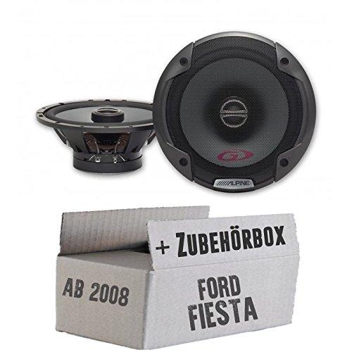 Alpine SPG-17C2-2-Wege 16,5cm Koax Lautsprecher - Einbauset für Ford Fiesta MK7 Front Heck - JUST SOUND best choice for caraudio