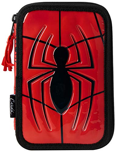 Spiderman, 2700-221, Astuccio Double Decker, Riempito, Multicolore, 19 cm